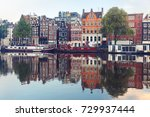 amsterdam canal amstel with...   Shutterstock . vector #729937444