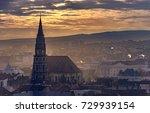 Yellow Cloudy Autumn Sunrise in Cluj-Napoca