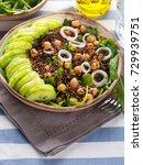 quinoa salad bowl with...