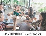 portrait of business team... | Shutterstock . vector #729941401