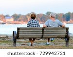 couple enjoying the sunset at... | Shutterstock . vector #729942721