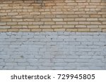 white and brown brick wall... | Shutterstock . vector #729945805