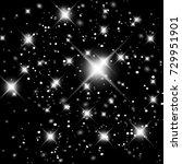 vector glittery lights silver... | Shutterstock .eps vector #729951901