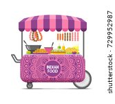 indian street food cart.... | Shutterstock .eps vector #729952987