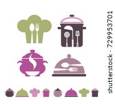 symbols of cooking  cookery ... | Shutterstock .eps vector #729953701