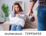 domestic violence concept in a... | Shutterstock . vector #729956935