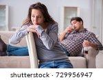 drinking problem drunk husband... | Shutterstock . vector #729956947