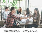 portrait of young business... | Shutterstock . vector #729957961