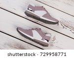 modern women's sport footwear.... | Shutterstock . vector #729958771