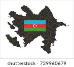 grey map of azerbaijan and... | Shutterstock .eps vector #729960679