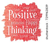 conceptual positive thinking ... | Shutterstock . vector #729962839