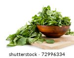 image of spinach and bowl with... | Shutterstock . vector #72996334