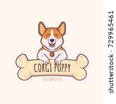 cute little pembroke welsh...   Shutterstock .eps vector #729965461