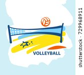 volleyball team  school  club... | Shutterstock .eps vector #729968911