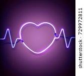 neon heart frame   Shutterstock .eps vector #729972811