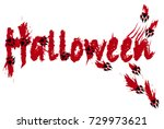 traces of the werewolf. holiday ... | Shutterstock .eps vector #729973621