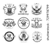 motorcycle or bikers club logo... | Shutterstock .eps vector #729978799