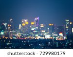 abstract urban night light... | Shutterstock . vector #729980179