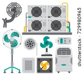 air conditioner airlock systems ...   Shutterstock .eps vector #729980965