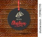 vector christmas vintage label... | Shutterstock .eps vector #729982795