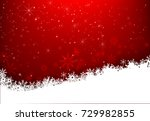 christmas snowflake with night... | Shutterstock .eps vector #729982855