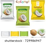 coconut candy packaging | Shutterstock .eps vector #729986947