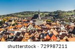 st. vitus church and cityscape... | Shutterstock . vector #729987211