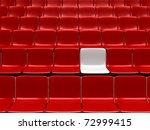 empty stadium chairs ... | Shutterstock . vector #72999415