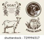 Vector Image Of Goat  Goat Mil...