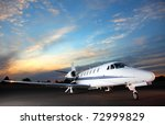 Portrait Of A Corporate Jet On...