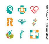 health logos set