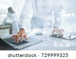 medicine doctor with... | Shutterstock . vector #729999325