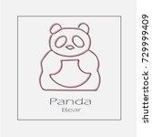 panda illustration. china...   Shutterstock .eps vector #729999409