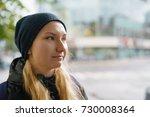 portrait of happy teen girl... | Shutterstock . vector #730008364
