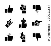 hand gestures icon set | Shutterstock .eps vector #730011664