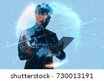 ai artificial intelligence ... | Shutterstock . vector #730013191