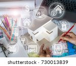 architect   interior designer... | Shutterstock . vector #730013839