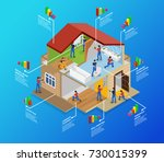 isometric home repair... | Shutterstock .eps vector #730015399