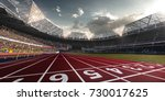 evening stadium arena soccer... | Shutterstock . vector #730017625