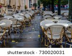 empty terrace on the bruehlsche ... | Shutterstock . vector #730020031