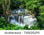 Beautiful Waterfall In Green...