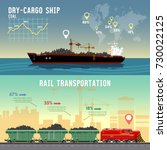 logistics banner cargo... | Shutterstock .eps vector #730022125