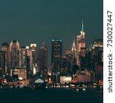 midtown manhattan skyline at... | Shutterstock . vector #730027447
