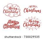 merry christmas  lettering.... | Shutterstock .eps vector #730029535