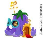 fairy house in form of flower... | Shutterstock .eps vector #730031389