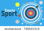time to sport   flat design... | Shutterstock .eps vector #730031515