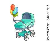 vector flat cartoon baby... | Shutterstock .eps vector #730032415