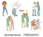 helping people with mental... | Shutterstock .eps vector #730034251