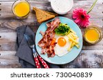 continental breakfast with... | Shutterstock . vector #730040839