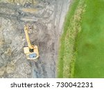 aerial view of a working... | Shutterstock . vector #730042231